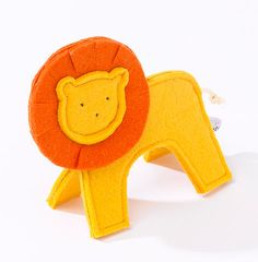 felt toy lion baby toy animal soft toy maternity gift by Trootoys, $14.00