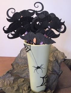 Mustaches +pixie sticks/ Perfect Halloween party favor!!! #eCraft, #eBosser    (A adds, I've always wondered what I could get my man for Valentine's Day that was on par with a bouquet of flowers...I think I've got it now, lol.)