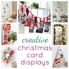 creative christmas card displays