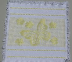 Attention Butterfly Lovers!!! This handwoven butterfly and flowers design makes a feminine centerpiece for a dresser, or use it as a wall