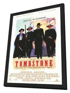 Tombstone 27 x 40 Movie Poster - Style A - in Deluxe Wood Frame -- Check this… Tombstone Movie, Kurt Russell, Poster Prints, Poster Frames, Val Kilmer, Creative Posters, Book Nerd, Make It Yourself, Nintendo Consoles
