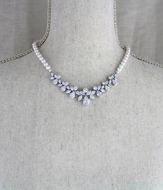 Pearl necklace Bridal necklace set Bridal jewelry set #weddinginspiration