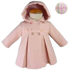 Abrigo de niña paño rosa