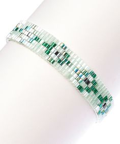Another great find on #zulily! Mint & Green Beaded Hex Bracelet by The Beaded Soul #zulilyfinds