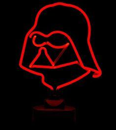 Darth Vader y Boba Fett convertidos en luces neón