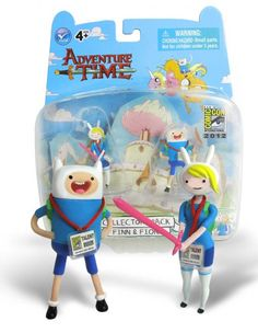 Lots of Adventure Time Happenings at Comic-Con  SEE! This nifty list of ten Adventure Time goings-on down in San Diego this week. Lots of great stuff, including this exclusive Finn & Fionna set from Jazwares. We'll take 72 of everything, please.  Abrams (Booth #1216/1218) will have a righteous new calendar for 2013 available for sale at the show!  BOOM! Studios (Booth #2743) will feature its line of Adventure Time comic books with a Pen Ward exclusive issue #1 cover – not to mention the d