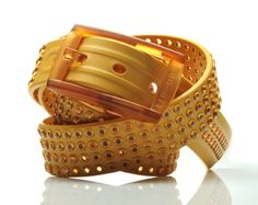 tie-ups Glam Pins Golden Outcast. The first studded recyclable belt. www.tie-ups.com