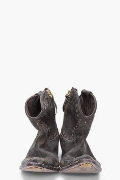 GOLDEN GOOSE Black Star Zip Boots #style #fashion #accessories