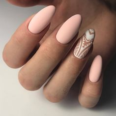 Accurate nails, Beautiful delicate nails, Cute nails, Delicate spring nails, Long nails, Nails trends 2018, Nude nails, Oval nails