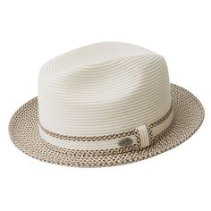 The Mannesroe Fedora in Bailey's braid collection is a bold yet stylishly sophisticated for the summers evening activities. The multi colored pattern gives this fedora an eye catching appeal and before you know it all of your friends will be asking where Mens Straw Hats, Straw Fedora, Hats For Men, Hat Men, Mens Dress Hats, Men Dress, Bailey Hats, Ibiza, Vintage Fashion 1950s
