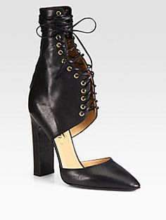 SS2013 - Salvatore Ferragamo - Shantelle Lace-Up Leather Pumps