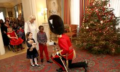 Children from Helen & Douglas House and Roald Dahl's Marvellous Children's Charity visit Clarence House Go Fug Yourself Royal Christmas, Christmas Tree, Christmas 2017, Christmas Cards, Douglas House, Royal Families Of Europe, Camilla Duchess Of Cornwall, Prince Charles And Camilla, Arquitetura
