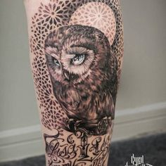 Great and cool tattoo    Credit : @cyril_perriollat - . #owl #owls #owllove
