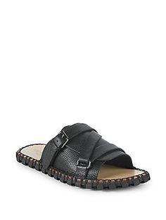 Valentino Garavani Strappy Leather Slides In Black Valentino Men, Valentino Shoes, Valentino Garavani, Birkenstock, Mens Fashion, Sandals, Luxury, Leather, Shopping