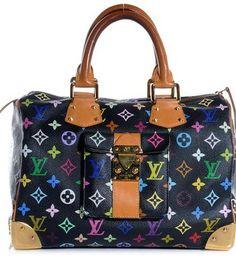 ddd46fdb9449 Louis Vuitton Multicolor Speedy 30 Black Shoulder Bag  1