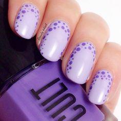 The Roxy #lavender #polish #mani #dotted #purple #nailart - bellashoot.com & bellashoot iPhone & iPad app