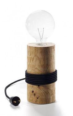 The Oak Men - Egestamme lampe