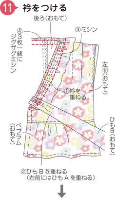 Yukata, Sewing For Kids, Nursery Room, Diy And Crafts, Girls Dresses, Kimono, Sew Baby, Kids Fashion, Dresses Of Girls