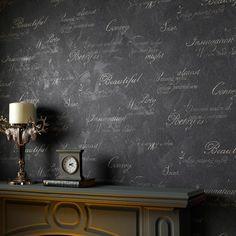 Wallpaper Inn Store - Concrete Script Charcoal, R899,95 (https://shop.wallpaperinn.co.za/concrete-script-charcoal/)