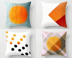These throw pillows would look good together on a couch. Black couch, grey couch, white couch... #dorm #dormroom #college