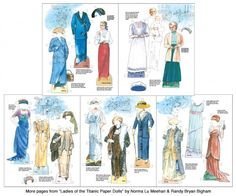 Ladies of the Titanic - scratch n dent sale [scratch n dent sale] : Paper Dolls of Classic Stars, Vintage Fashion and Nostalgic Characters, for Kids and Collectors Barbie Paper Dolls, Paper Dolls Book, Dolls Dolls, Victorian Paper Dolls, Vintage Paper Dolls, Barbie Fashion Sketches, Literary Characters, Contemporary Fashion, Titanic