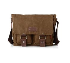 Nasis Unisex Basic Solid Color Canvas Shoulder Bag Messenger Bag Cross Body Bag AL4050 *** Continue to the product at the image link.