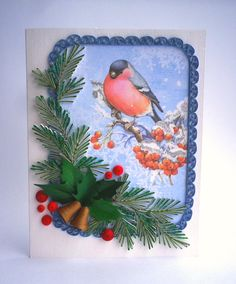 New Year quilling card Magnificent Christmas card by QuillyVicky