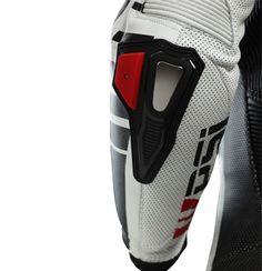 Racing detail: elbow slider and protector on Leather overalls RACING ASTAROTH   PSí Hubík