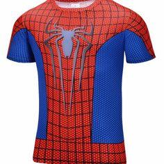 Marvel Super Heroes Avenger Captain America Batman T shirt Men Compression Armour Base Layer Thermal Under Causal Shirt