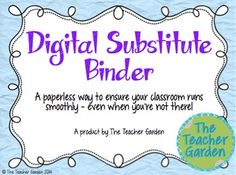 Impress admin, colleagues, and substitute teachers with this packet. Purchase includes 20+ page printable sub packet, digital sub binder, and written & video tutorials about how to edit both.