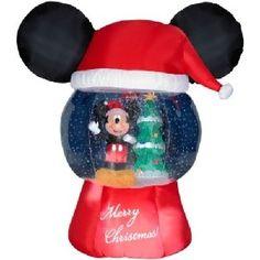Airblown Inflatable Mickey Mouse in Santa Beard 5' CHRISTMAS YARD ...