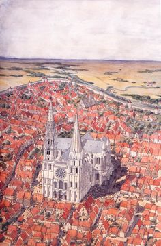 Chartres in the Middle Ages by Jean-Claude Golvin