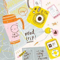 Roadtrip! #illustration #travel #roadtrip #europe by Amy Lesko @leskoletsgo