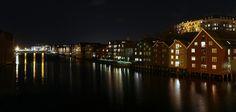Nidelven at night. www.visittrondhei...