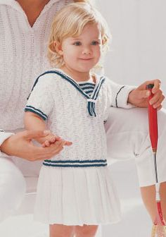 Ravelry: Cabled Sailor Dress pattern by Patons Baby Knitting Patterns, Baby Patterns, Steps Dresses, Very Cute Baby, Knit Baby Dress, Toddler Sweater, Sailor Dress, Sweet Dress, Free Baby Stuff