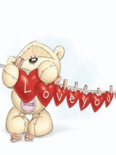 My 4 Granddaughters Teddy Pictures, Cute Pictures, Moon Gif, Fizzy Moon, Valentines Day Drawing, Moon Bear, My Sweet Valentine, Twin Flame Love, Blue Nose Friends