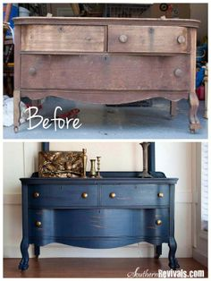 Add a fresh coat of paint. If you have chipping, you may need to sand a bit or fill in with wood filler. Once you have it smoothed out, just paint it whatever color you want.