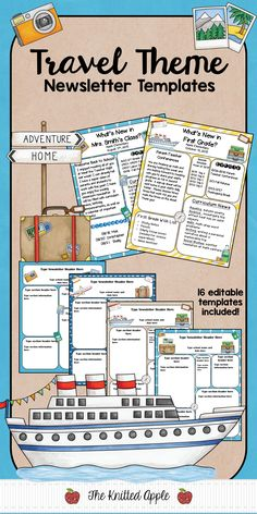Newsletter templates for your travel theme classroom!