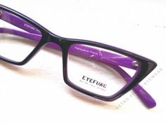 b01bcc35cf Square Cat by Eyefunc. Black-purple cat eye eyeglass frames perfect for  oblong