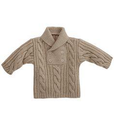 Modèle pull bébé avec torsades - Modèles tricot layette - Phildar