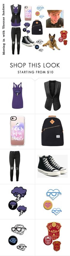 Thomas Sanders inspired outfits (Anxiety/Virgil) by poochie-lover on Polyvore featuring J.TOMSON, AMIRI, Converse, Casetify, Status Anxiety and Sanders