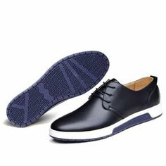 cheap for discount 49b4b 0dffb Fashion Men Genuine Leather Oxford Casual Shoes. Estilo De ZapatosZapatos  ...