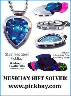 1,000 necklaces in 1 PICKBAY Guitar PICK Holder Pendant Set #Best Gift | eBay