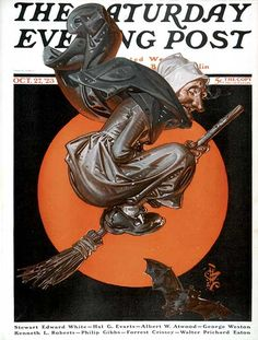 Leyendecker Witch in the Saturday Evening Post Cover