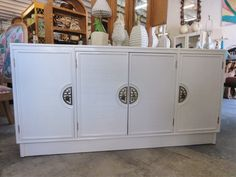 Newly Lacquered Asian Inspired Credenza by PalmBeachRegencyInc