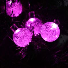 solar outdoor string lights pink crystal ball solar powered globe fairy lights for garden fence path landscape decoration led pink home improvement