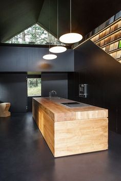 Dark Interiors | Kitchen | Black Walls