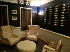 Sherwin Williams In the Navy blue and white dining room to wine tasting room.