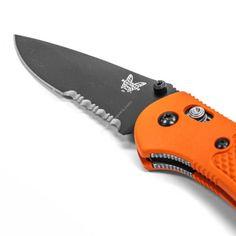 Benchmade Griptilian Orange Serrated 154CM Folder Knife - 551SBK-ORG