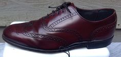 DEXTER  WINGTIPS Cordovan Patina Mens Shoes leather Shoes Brogue size 10 1/2  WW